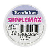 Clear SuppleMax Monofilament Illusion Bead Cord - 0.25mm